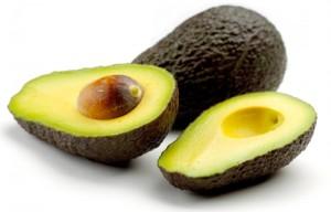 Avocado on white