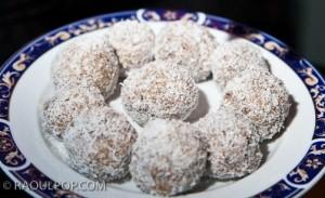 Raffaello treats, improved recipe by Ligia Pop.